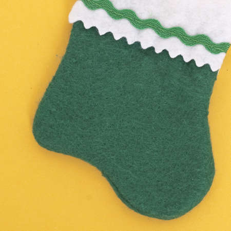 Close Up of a Holiday Stocking on an Orange Background. Stock Photo - 8135142