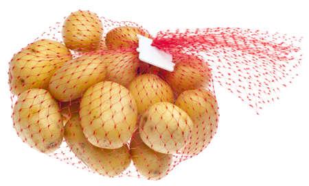 fingerling: White Artisan Fingerling Potatoes Isolated on White.
