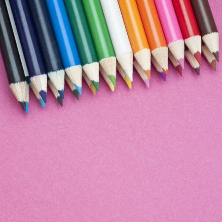 Colored Pencils Creativity and The Arts Concept Image. Imagens