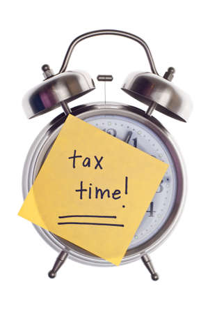 Tax Time Gives the Choice to File On-line or by Mail.  Concept Image. photo