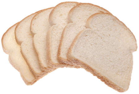 Stack of White Bread Isolated on White