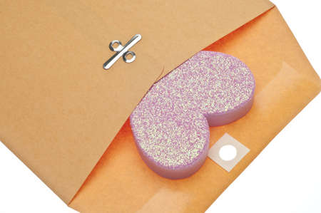 Love Letter Concept with Envelope and Heart for Valentines Day and Romance Concepts.
