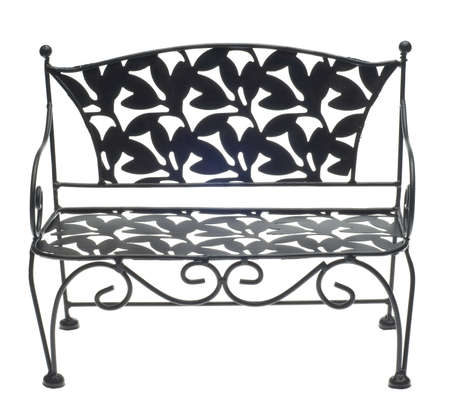 Decorative Bench Isolated on White