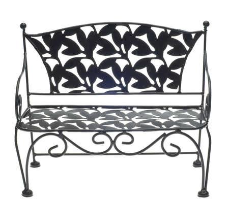 Decorative Bench Isolated on White Stock Photo - 8789961