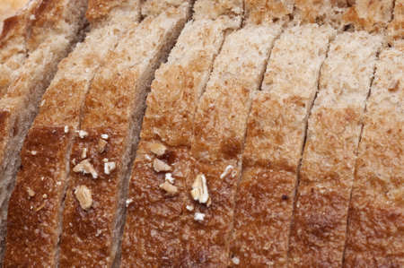 Fresh Sliced Bread Background with Selective Focus.