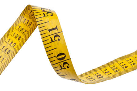 cinta metrica: Medir el concepto de salud de la dieta de cinta aislado en blanco