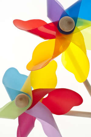 Colorful Pinwheel Background Summer Concept Border Image Stock Photo - 8894781
