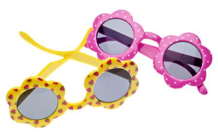 Summer Child Size Sunglasses Isolated on White photo
