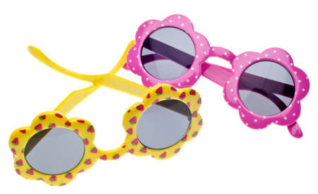 Summer Child Size Sunglasses Isolated on White Stock Photo - 8894762