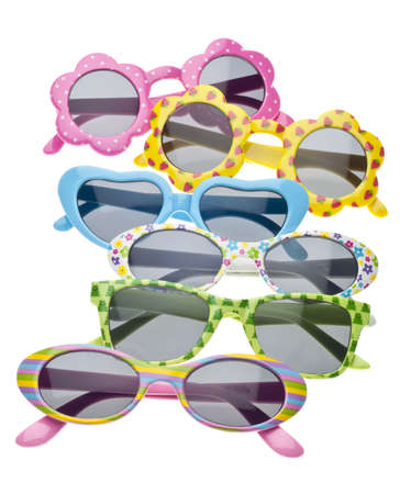 Summer Child Size Sunglasses Isolated on White photo