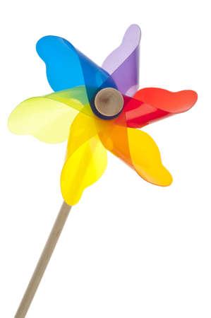 Colorful Pinwheel Isolated on White  Stock Photo - 8975481