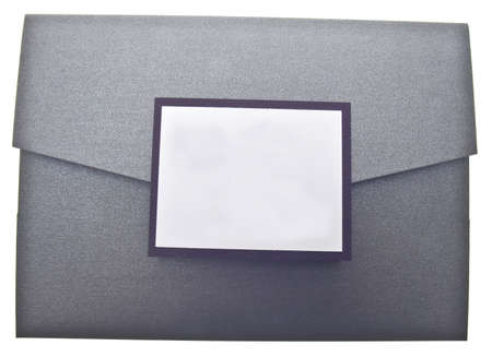 Fancy Paper Invitation Isolated on White with a Clipping Path. photo