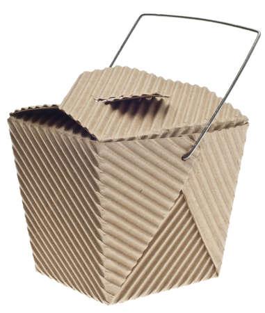 Take Away Container in Pappe isoliert auf weiß Standard-Bild - 9987017