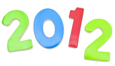 화이트 절연 새해에 대한 2012 스톡 콘텐츠