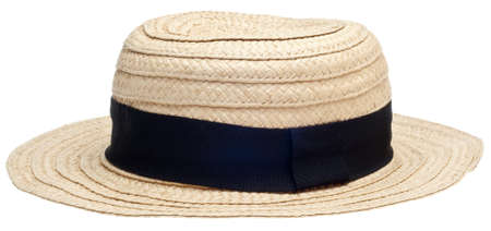 Traditional Straw Hat Isolated on White