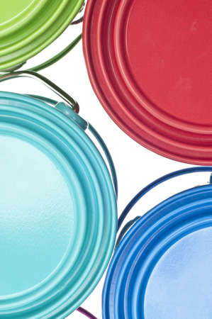Paint Can Close Up Colorful Background Texture. Stock Photo - 9987303