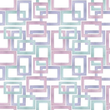 パステル カラーの木製フレームの写真から作られたシームレスな背景パターン。 写真素材