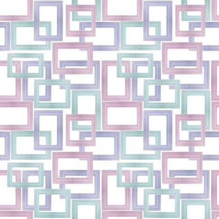 Seamless Background Pattern Made From Photographs of Pastel Wooden Frames. photo