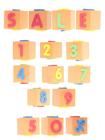 SALE Numbers and Word Set Isolated on White  photo