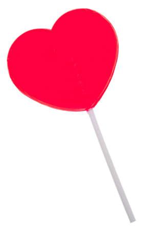 Red Heart Lollipop   版權商用圖片