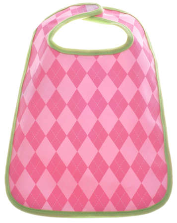 Pink Argyle Baby Girl Bib  Stock Photo