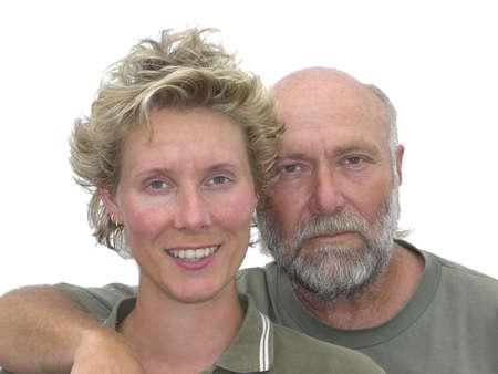 curare teneramente: Padre e figlia ritratto  Archivio Fotografico