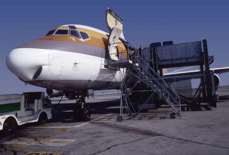 Loading transport plane
