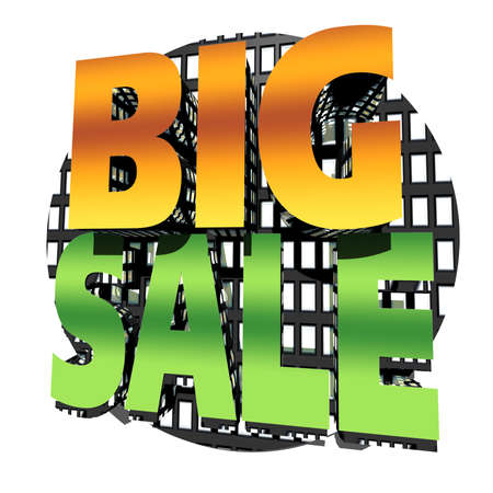 three dimensional graphic depicting a big sale Stock Photo