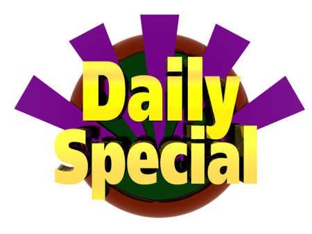 three dimensional graphic depicting a daily special photo