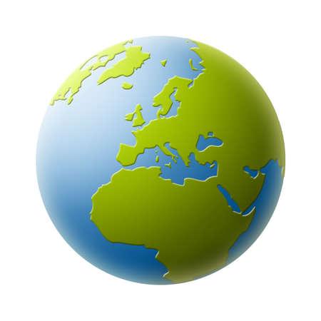 mondo: World globe Stock Photo
