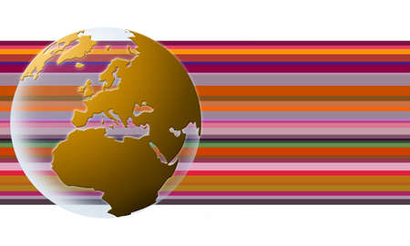 World globe texture (orange)