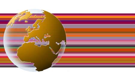 mondo: World globe texture (orange)