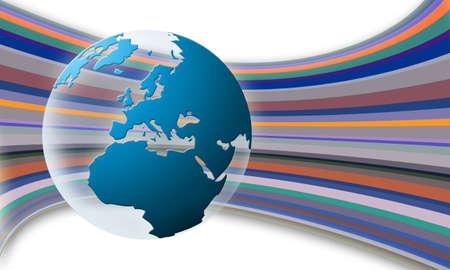 mondo: World globe texture (blue) Stock Photo