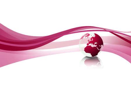 World globe texture (red)