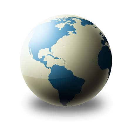 World globe (silver, blue)