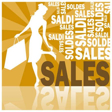 Sales (orange) Stock Photo