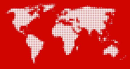 mondo: World Map (red)