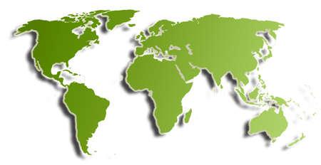 World Map (green)