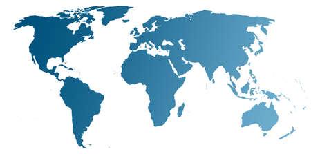 World Map (blue)