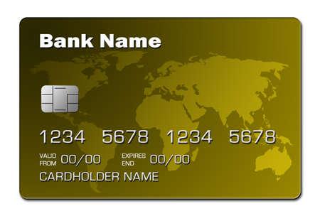 Credit Card (yellow) Stock Photo
