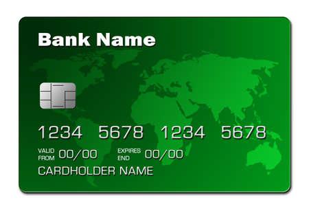 Credit Card (green) Stock Photo