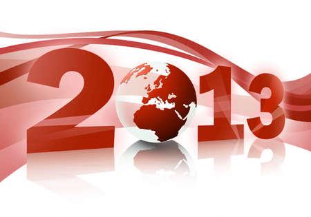 mondo: 2013 texture (red) Stock Photo