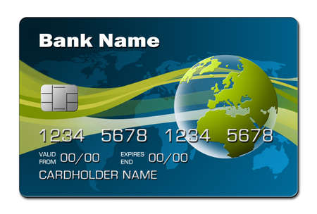 credit card debt: blue credit card