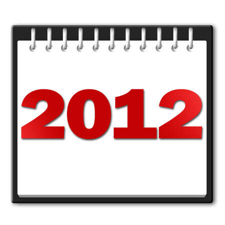 2012 in red on a notepad Stock Photo