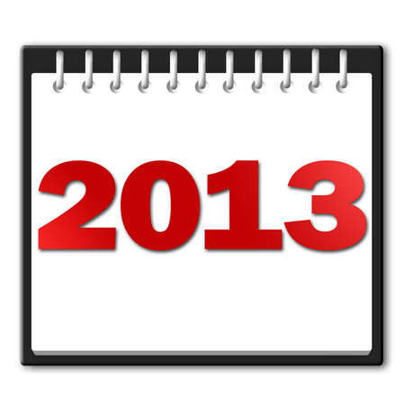 2013 in red on a notepad Stock Photo