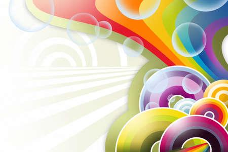 rainbow circles abstract  Stock Photo