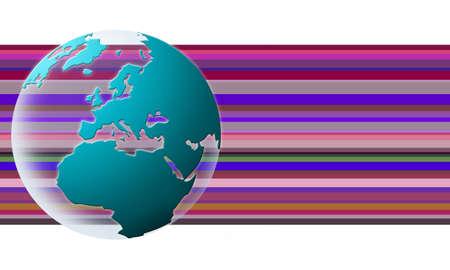 world globe texture (blue3)