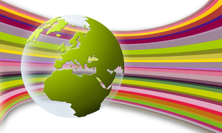 world globe texture (green)
