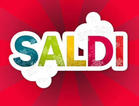 saldi red background  Stock Photo