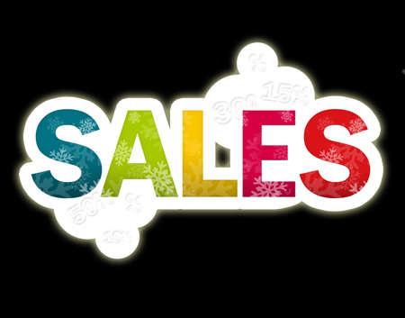 sales black background  Stock Photo